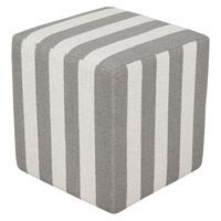 Surya PCPF-010 Picnic 18 inch Grey Pouf photo thumbnail