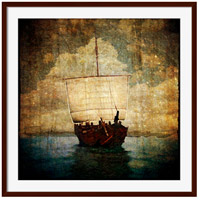 Drifting on Waters Wings Wall Art, Rectangle, Eternal