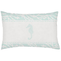 Seasalt And Seahorses Green Outdoor Holiday Throw Pillow
