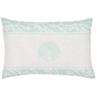 Seasalt And Seashells Green Outdoor Holiday Throw Pillow