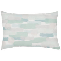 Seaside Splendor Green Outdoor Holiday Throw Pillow