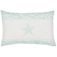Seasalt And Starfish Green Outdoor Holiday Throw Pillow