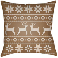 Surya PLAID002-2020 Fair Isle I 20 X 20 inch Tan and Beige Outdoor Throw Pillow photo thumbnail