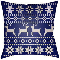 Surya PLAID004-2020 Fair Isle I 20 X 20 inch Blue and Beige Outdoor Throw Pillow photo thumbnail