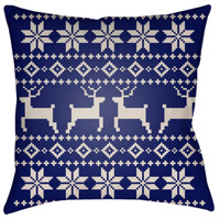 Surya PLAID004-2020 Fair Isle I 20 X 20 inch Blue and Beige Outdoor Throw Pillow alternative photo thumbnail