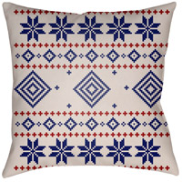 Surya PLAID008-2020 Fair Isle II 20 X 20 inch Blue and Neutral Outdoor Throw Pillow photo thumbnail