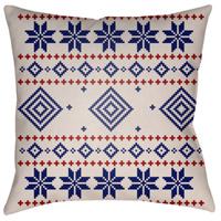 Surya PLAID008-2020 Fair Isle II 20 X 20 inch Blue and Neutral Outdoor Throw Pillow alternative photo thumbnail