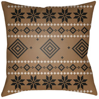 Surya PLAID009-2020 Fair Isle II 20 X 20 inch Brown and Neutral Outdoor Throw Pillow photo thumbnail