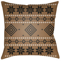 Surya PLAID009-2020 Fair Isle II 20 X 20 inch Brown and Neutral Outdoor Throw Pillow alternative photo thumbnail