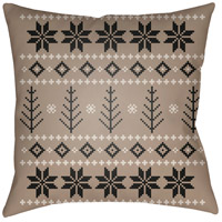 Surya PLAID011-2020 Fair Isle III 20 X 20 inch Tan and Neutral Outdoor Throw Pillow photo thumbnail