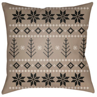 Surya PLAID011-2020 Fair Isle III 20 X 20 inch Tan and Neutral Outdoor Throw Pillow alternative photo thumbnail