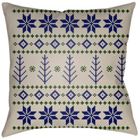 Surya PLAID013-2020 Fair Isle III 20 X 20 inch Blue and Neutral Outdoor Throw Pillow photo thumbnail