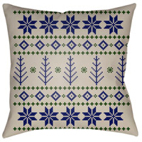 Surya PLAID013-2020 Fair Isle III 20 X 20 inch Blue and Neutral Outdoor Throw Pillow alternative photo thumbnail