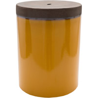 Surya PLS001-121218 Palominas Yellow and Brown Stool Home Decor, Cylinder, Hand Crafted