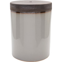 Surya PLS002-121218 Palominas Grey and Brown Stool Home Decor, Cylinder, Hand Crafted