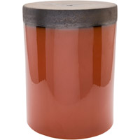 Palominas Orange and Brown Stool Home Decor, Cylinder, Hand Crafted