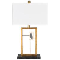 Surya PON-001 Patton 28 inch 100 watt White Table Lamp Portable Light