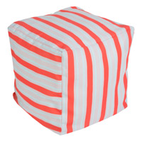 Surya POUF-283 Signature 18 inch Orange Pouf photo thumbnail