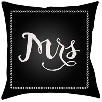 Wife 20 X 20 inch Black and White Outdoor Throw Pillow