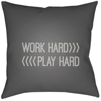 Work Play 20 X 20 inch Grey and Beige Outdoor Throw Pillow