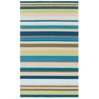 Rain 180 X 144 inch Lime and Teal Outdoor Area Rug