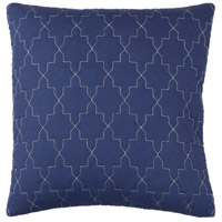 Reda 20 X 20 inch Navy and Grey Pillow Cover