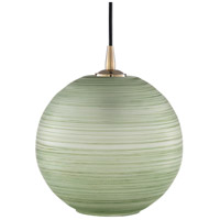 Surya RDR-002 Rondure 1 Light 10 inch Mint/Sage Pendant Ceiling Light