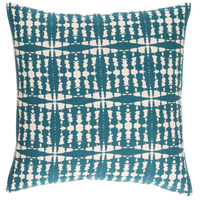Ridgewood 20 X 20 inch Blue and Off-White Pillow Cover