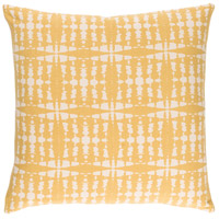 Ridgewood 20 X 20 inch Yellow and Off-White Pillow Cover