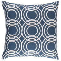 Ridgewood 20 X 20 inch Navy and White Pillow Cover