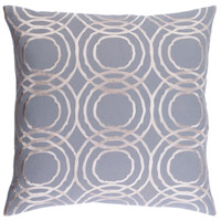 Ridgewood 20 X 20 inch Grey and Off-White Pillow Cover