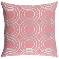Ridgewood 20 X 20 inch Pink and Off-White Pillow Cover