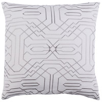Ridgewood 20 X 20 inch Off-White and Grey Pillow Cover