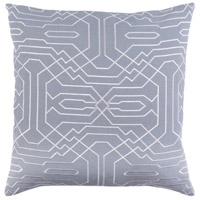 Ridgewood 20 X 20 inch Grey and White Pillow Cover