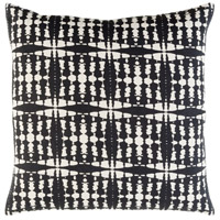 Ridgewood 18 X 18 inch Black and Khaki Pillow Cover