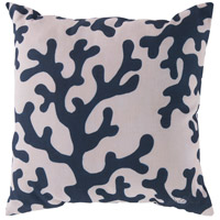 Rain 18 X 18 inch Navy and Beige Outdoor Throw Pillow