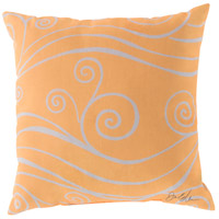 Rain 18 X 18 inch Yellow and Beige Outdoor Throw Pillow