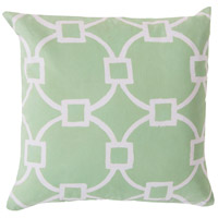 Rain 18 X 18 inch Green and Beige Outdoor Throw Pillow