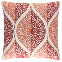 Regina 20 X 20 inch Pink and Tan Pillow Cover
