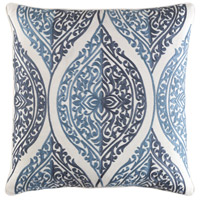 Regina 18 X 18 inch Navy and Navy Pillow Cover