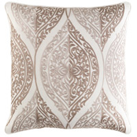 Regina 18 X 18 inch Beige and Tan Pillow Cover