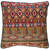 Rokel 20 X 20 inch Red and Green Pillow Cover