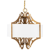 Surya ROX-003 Roxy 3 Light 22 inch White Pendant Ceiling Light