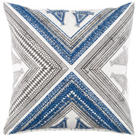 Rufiji 20 X 20 inch Navy and Brown Pillow Cover