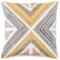 Rufiji 20 X 20 inch Yellow and Brown Pillow Cover