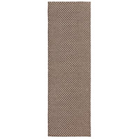 Ravena 96 X 30 inch Brown and Neutral Runner, Wool