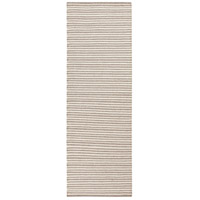 Ravena 96 X 30 inch Neutral and Brown Runner, Wool