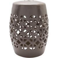 Surya RWY001-131318 Ridgeway Grey Stool Home Decor Cylinder Hand Crafted