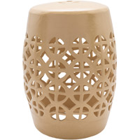 Ridgeway Khaki Stool Home Decor, Cylinder, Hand Crafted
