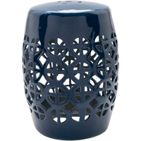 Ridgeway Navy Stool Home Decor, Cylinder, Hand Crafted